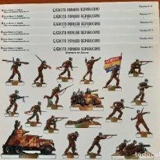 Coleccionismo Recortables: LOTE COMPLETO : VEINTE RECORTABLES EJERCITO POPULAR REPUBLICANO -. Lote 219082345