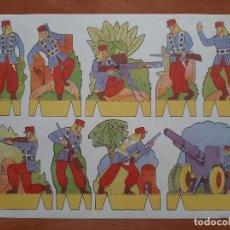 Coleccionismo Recortables: RECORTES PEPI SERIE SOLDADOS : 8 RECORTABLES COMPLETA. Lote 219136352