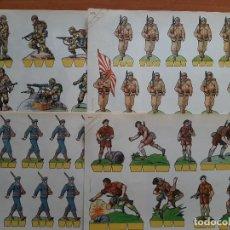Coleccionismo Recortables: RECORTABLES COMETA - SOLDADOS - OCHO EJEMPLARES. Lote 219386367