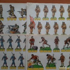 Coleccionismo Recortables: RECORTABLES COMETA - SOLDADOS - OCHO EJEMPLARES. Lote 219387441