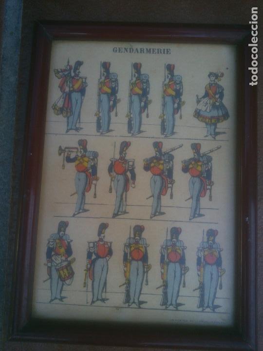 RECORTABLE. IMAGERIE PELLERIN. EPINAL. ENMARCADO.10.5X15 CMS. (Coleccionismo - Recortables - Soldados)