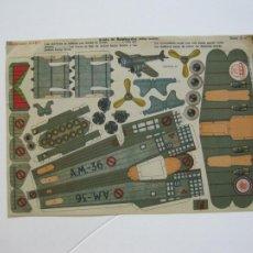 Coleccionismo Recortables: AVION DE BOMBARDEO-RECORTABLES BABY-RECORTABLE ANTIGUO-VER FOTOS-(V-22.373). Lote 223636968