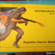 Coleccionismo Recortables: RECORTABLES SOL Nº 1 SEGUNDA GUERRA MUNDIAL COMPLETO. Lote 223745536