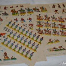 Coleccionismo Recortables: LOTE RECORTABLES BRUGUERA / AÑOS 60 - 16 HOJAS/PLIEGOS VARIADOS / SOLDADOS, BUEN ESTADO ¡MIRA FOTOS!. Lote 224111626