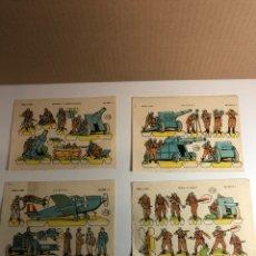 Coleccionismo Recortables: LOTE DE 4 RECORTABLES MORTEROS Y AMETRALLADORAS (NÚMEROS 2,12,13,14 SERIE LILIPUT). Lote 224910623