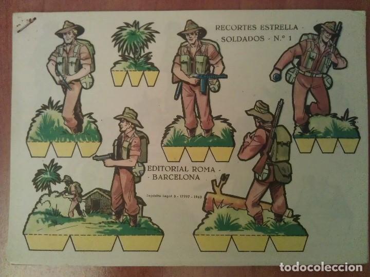SOLDADOS : 16 RECORTABLES - COLECCIÓN COMPLETA RECORTES ESTRELLA SOLDADOS (Coleccionismo - Recortables - Soldados)