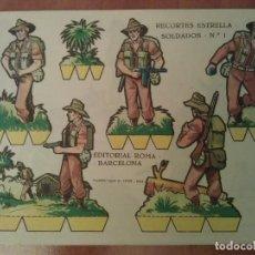 Coleccionismo Recortables: SOLDADOS : 16 RECORTABLES - COLECCIÓN COMPLETA RECORTES ESTRELLA SOLDADOS. Lote 225365046