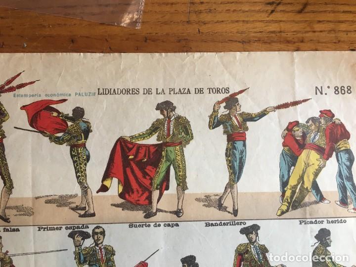 Coleccionismo Recortables: ESTAMPERÍA PALUZIE, RECORTABLES TEMAS TAURINOS. - Foto 10 - 227550120