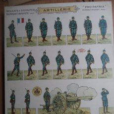 Coleccionismo Recortables: PRO PATRIA BOUQUET ARTILLERIE RECORTABLE CARA Y ESPALDA A COLOR. Lote 227686035