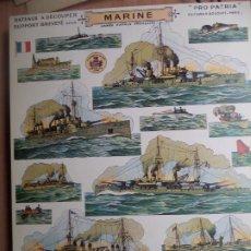 Coleccionismo Recortables: PRO PATRIA H.BOUQUET MARINE RECORTABLE CARA-ESPALDA A TODO COLOR 38X28 CM. Lote 227687460