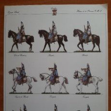 Coleccionismo Recortables: LÁMINA RECORTABLE : EJERCITO LIBERAL - HUSARES DE LA PRINCESA. Lote 229939895