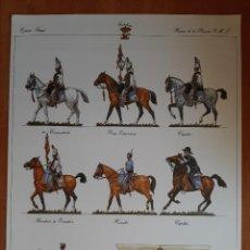 Coleccionismo Recortables: LÁMINA RECORTABLE : EJERCITO LIBERAL - HUSARES DE LA PRINCESA. Lote 230372850