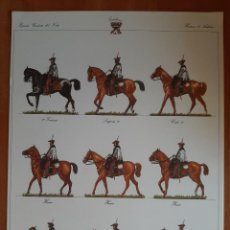 Coleccionismo Recortables: LÁMINA RECORTABLE : EJERCITO LIBERAL - HUSARES DE LA PRINCESA. Lote 230372990