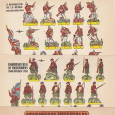 Coleccionismo Recortables: C4 - LOTE DE 3 RECORTABLES DE SOLDADOS DE 1959. Lote 232017545