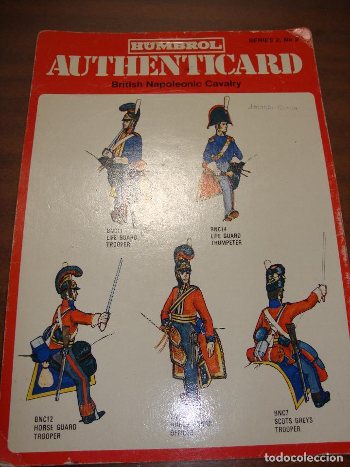 FICHA HUMBROL AUTHENTICARD Nº 2 (Coleccionismo - Recortables - Soldados)