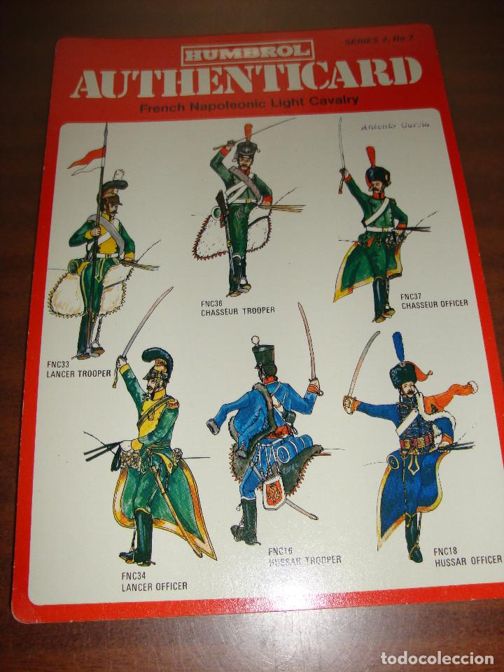 FICHA HUMBROL AUTHENTICARD Nº 7 (Coleccionismo - Recortables - Soldados)