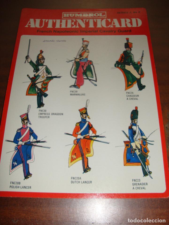 FICHA HUMBROL AUTHENTICARD Nº 9 (Coleccionismo - Recortables - Soldados)