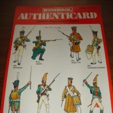 Coleccionismo Recortables: FICHA HUMBROL AUTHENTICARD Nº 12. Lote 232199320