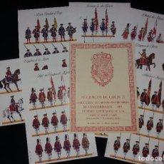 Coleccionismo Recortables: EL EJERCITO DE CARLOS III,COLECCION COMPLETA DE 8 LAMINAS RECORTABLES,DIBUJOS DE DIONISIO A.CUETO. Lote 57537840