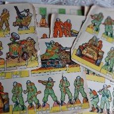 Coleccionismo Recortables: T-559.- LOTE DE -- 32 -- HOJAS DE RECORTABLES VARIAS MEDIDAS Y TEMATICA, VER FOTOS , Y NOMBRES. Lote 242469405