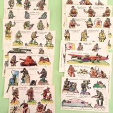 Coleccionismo Recortables: RECORTABLES SOLDADOS RECORTES ESTRELLA COLECCIÓN COMPLETA. Lote 269766963
