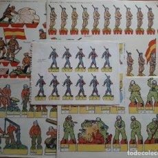 Coleccionismo Recortables: LOTE 16 RECORTABLES MILITARES DIVERSOS. Lote 243128060