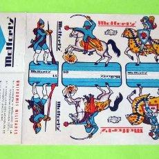 Coleccionismo Recortables: ANTIGUOS RECORTABLES MILITARES, PUBLICIDAD CALCETINES MOLFORT'S Nº 8,9,10,11. Lote 245558450