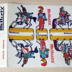 Coleccionismo Recortables: ANTIGUOS RECORTABLES MILITARES, PUBLICIDAD CALCETINES MOLFORT'S Nº 1,2,3,4. Lote 245559010