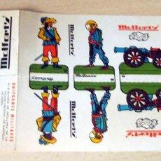 Coleccionismo Recortables: ANTIGUOS RECORTABLES MILITARES, PUBLICIDAD CALCETINES MOLFORT'S Nº 5,6,7. Lote 245559445
