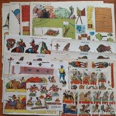 Coleccionismo Recortables: LOTE 21 RECORTABLES DIFERENTES DEL OESTE. Lote 245917950