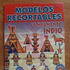 Coleccionismo Recortables: PACK 16 RECORTABLES : CAMPAMENTO INDIO. Lote 245935840