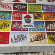 Coleccionismo Recortables: 13 SOLDADOS INFANTERIA ESPAÑOLA. MARCA SOLDIS. Lote 246154485