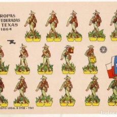 Coleccionismo Recortables: TROPAS CONFEDERADAS DE TEXAS DE 1864 - BRUGUERA - AÑO 1961 - PERFECTO ESTADO. Lote 246869105