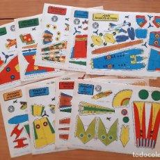 Coleccionismo Recortables: 9 RECORTABLES BRUGUERA - AVIONES - AÑO 1959 - PERFECTO ESTADO. Lote 246947845