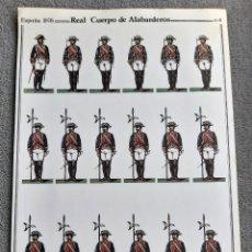 Coleccionismo Recortables: REAL CUERPO DE ALABARDEROS - ESPAÑA 1876 - Nº 4 - D. SALAS - PERFECTO ESTADO. Lote 246955810