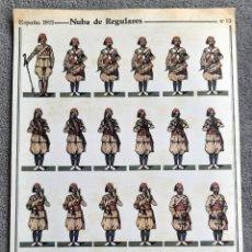 Coleccionismo Recortables: NUBA DE REGULARES - ESPAÑA 1921 - Nº 13 - D. SALAS - PERFECTO ESTADO. Lote 246963135
