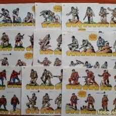 Coleccionismo Recortables: COLECCIÓN COMPLETA : 9 RECORTABLES SERIE AMARILLA SOLDADOS. Lote 247918045