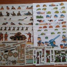Coleccionismo Recortables: LOTE DE SERIES COMPLETAS Y SUELTOS DE SOLDADOS : 30 EJEMPLARES. Lote 252405635