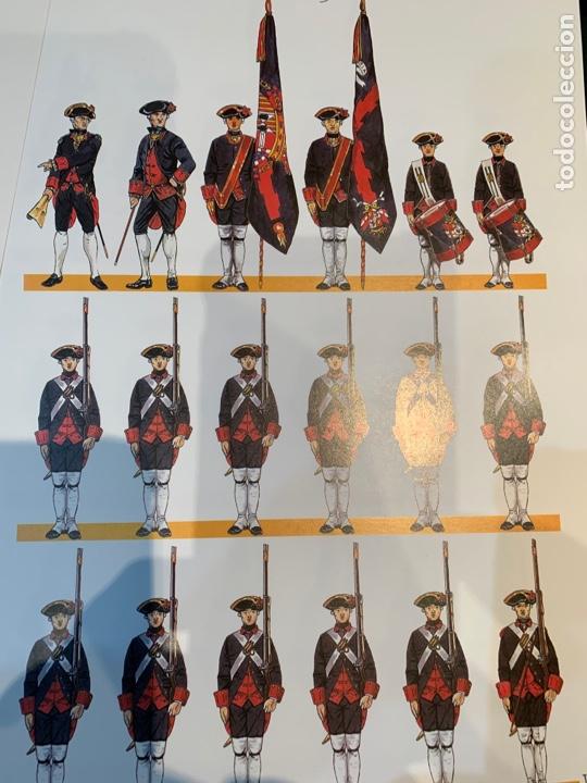 Coleccionismo Recortables: Carpeta El Ejército de Carlos III , 8 láminas Recortables - Dibujos Dionisio A. Cuero . Nuevo año 88 - Foto 9 - 252420335