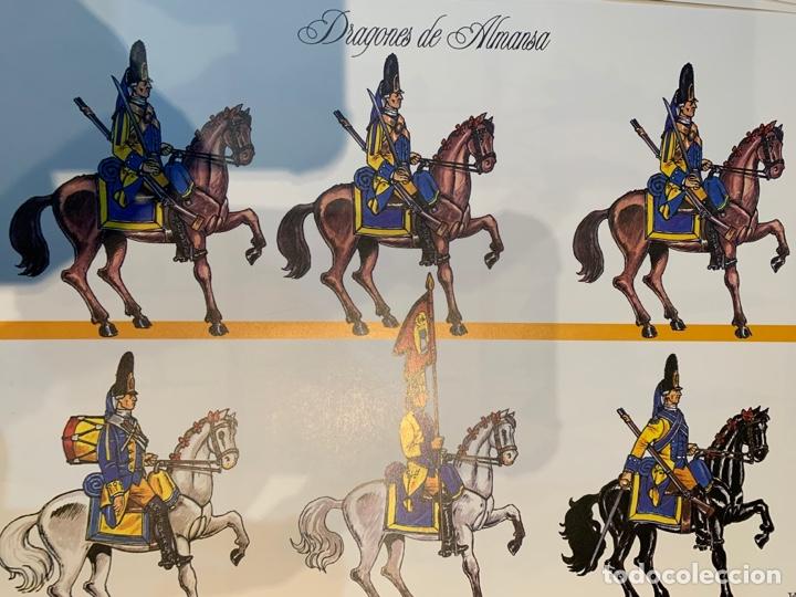 Coleccionismo Recortables: Carpeta El Ejército de Carlos III , 8 láminas Recortables - Dibujos Dionisio A. Cuero . Nuevo año 88 - Foto 10 - 252420335