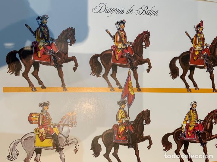 Coleccionismo Recortables: Carpeta El Ejército de Carlos III , 8 láminas Recortables - Dibujos Dionisio A. Cuero . Nuevo año 88 - Foto 11 - 252420335