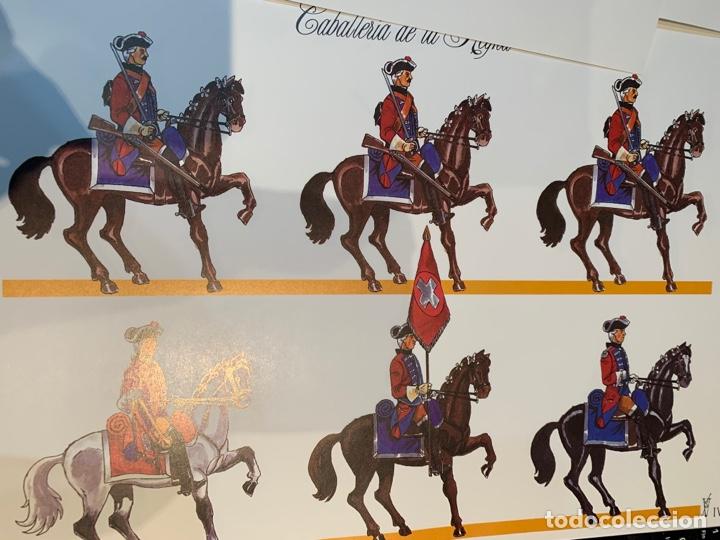 Coleccionismo Recortables: Carpeta El Ejército de Carlos III , 8 láminas Recortables - Dibujos Dionisio A. Cuero . Nuevo año 88 - Foto 12 - 252420335
