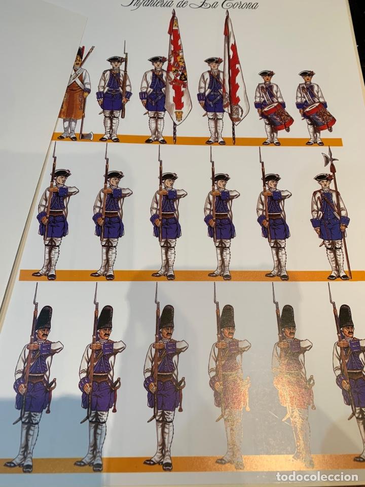 Coleccionismo Recortables: Carpeta El Ejército de Carlos III , 8 láminas Recortables - Dibujos Dionisio A. Cuero . Nuevo año 88 - Foto 7 - 252420335
