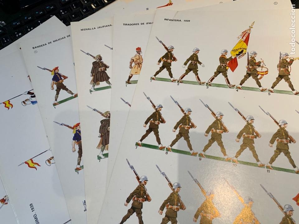 Coleccionismo Recortables: Carpetas (5) completas Primera Serie El Ejército en Parada n. 1,2,3,4 y 5 - 40 láminas ver fotos - Foto 4 - 252431470