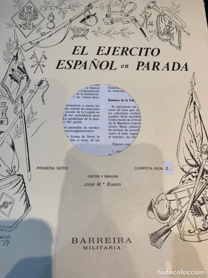 Coleccionismo Recortables: Carpetas (5) completas Primera Serie El Ejército en Parada n. 1,2,3,4 y 5 - 40 láminas ver fotos - Foto 5 - 252431470
