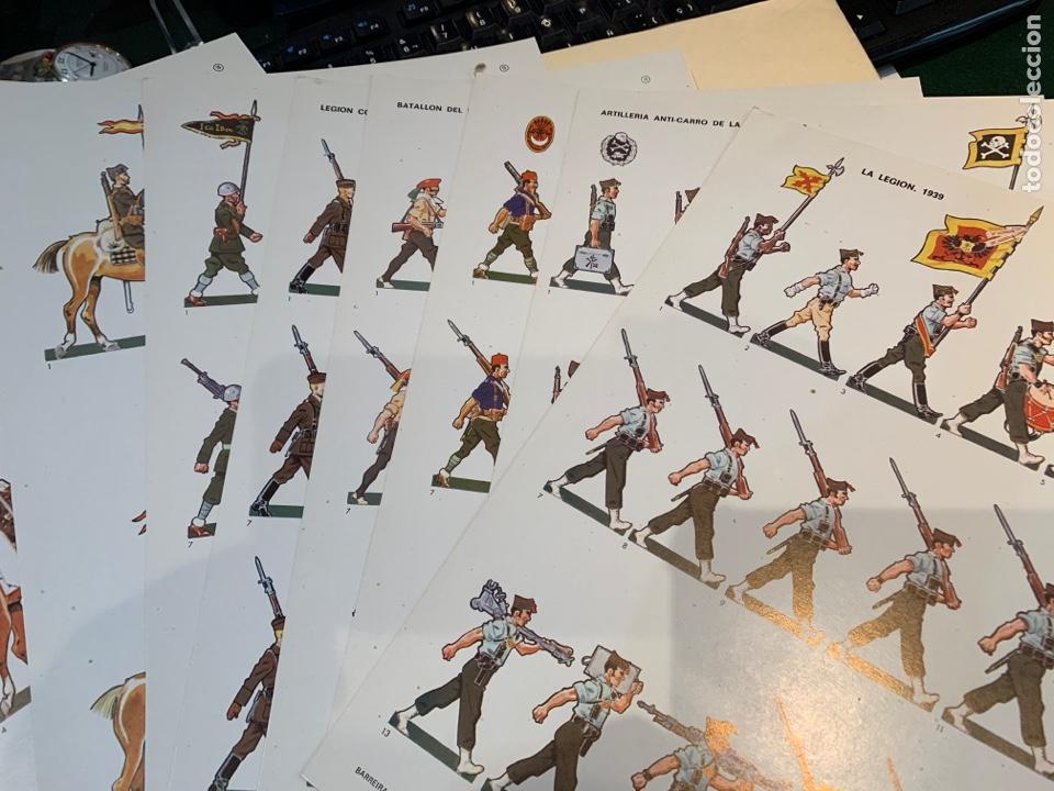 Coleccionismo Recortables: Carpetas (5) completas Primera Serie El Ejército en Parada n. 1,2,3,4 y 5 - 40 láminas ver fotos - Foto 8 - 252431470