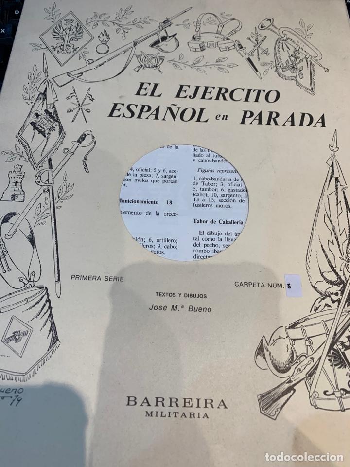 Coleccionismo Recortables: Carpetas (5) completas Primera Serie El Ejército en Parada n. 1,2,3,4 y 5 - 40 láminas ver fotos - Foto 9 - 252431470