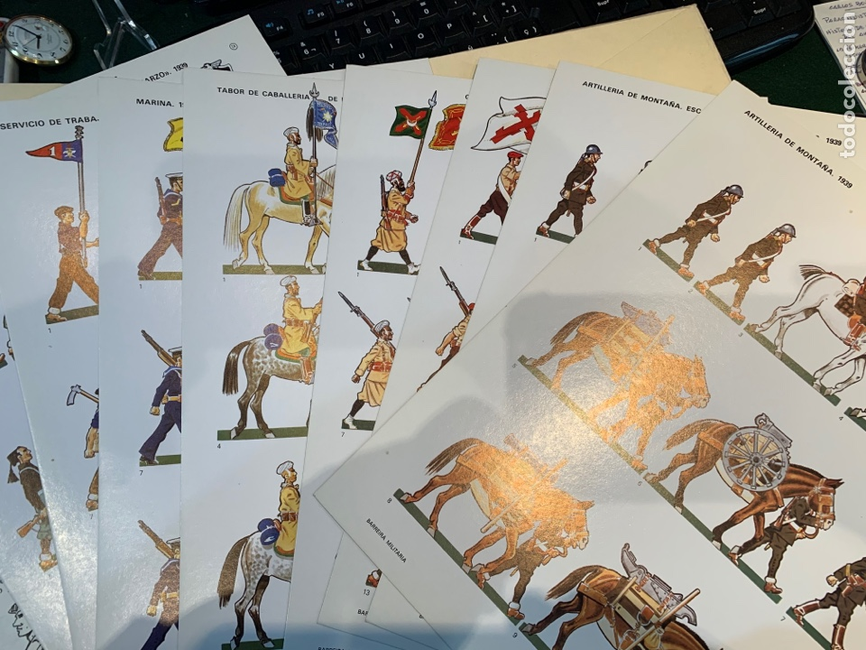 Coleccionismo Recortables: Carpetas (5) completas Primera Serie El Ejército en Parada n. 1,2,3,4 y 5 - 40 láminas ver fotos - Foto 12 - 252431470