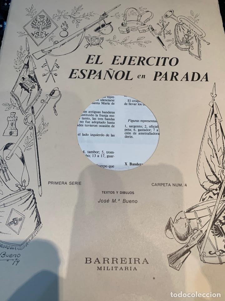 Coleccionismo Recortables: Carpetas (5) completas Primera Serie El Ejército en Parada n. 1,2,3,4 y 5 - 40 láminas ver fotos - Foto 13 - 252431470