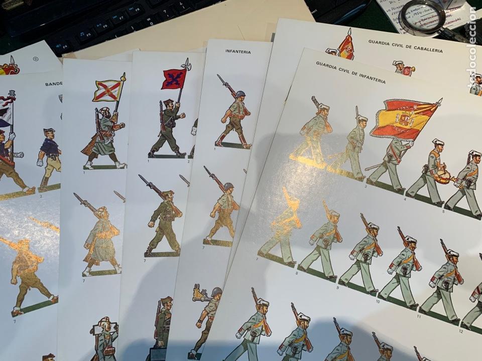 Coleccionismo Recortables: Carpetas (5) completas Primera Serie El Ejército en Parada n. 1,2,3,4 y 5 - 40 láminas ver fotos - Foto 16 - 252431470